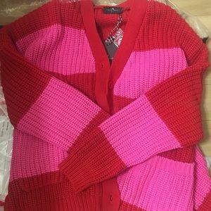 4e8cae6859b5 Lazy Oaf Sweaters   Life Is Hard Oversized Cardigan Ml   Poshmark
